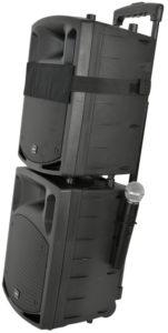 QTX PAV8-UHF nagłośnienie mobilne, kolumny mobilne, Portable PA Set with UHF Mics, Bluetooth® & DVD