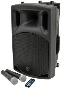 QTX QX15PA-plus nagłośnienie przenośne, kolumna mobilna, portable PA unit UHF USB-SD-FM-BT