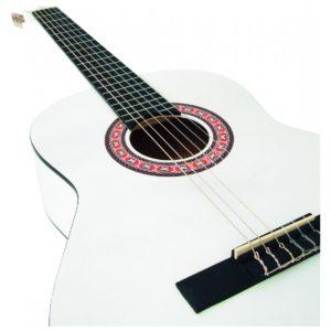 Dimavery AC-303 gitara klasyczna biała