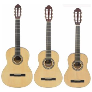 Gitary klasyczne Chord w rozmiarze 1/2, 3/4 i 4/4 (1/1)