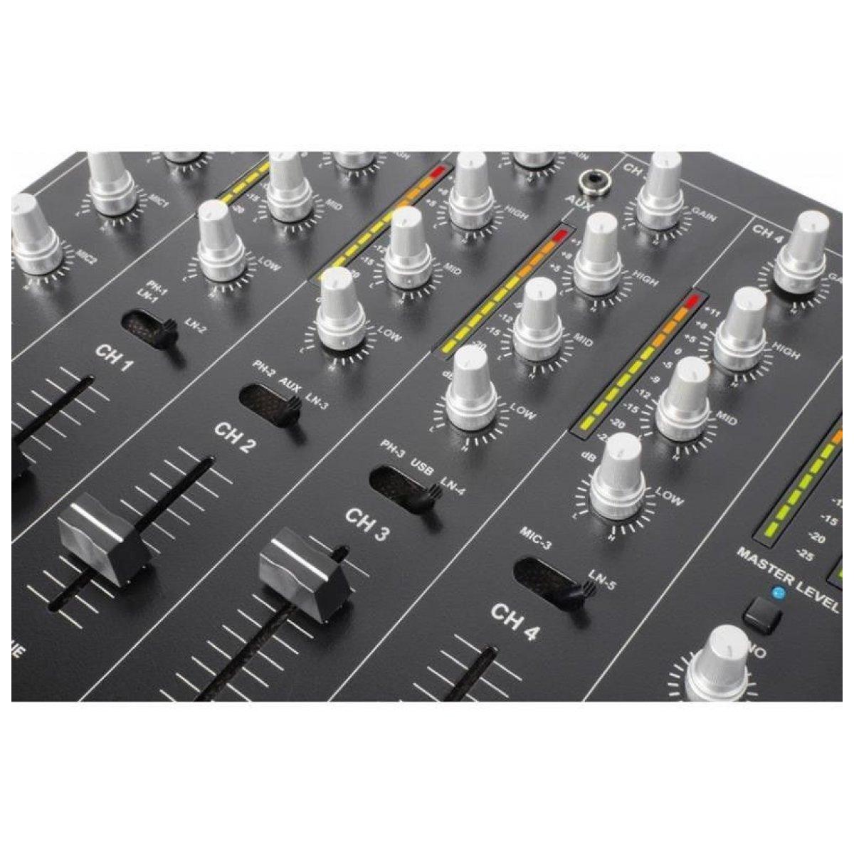 Skytec STM 7010 Mixer 4 Ch DJ Mixer USB