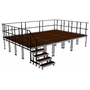 2m ERGOtrend OUT 6x4 - Stage Platform Set Outdoor 6 x 4 m, podest sceniczny 1/1