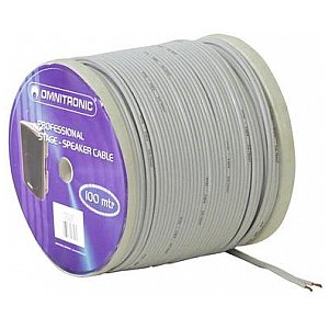 Omnitronic NYFAZ-cable 2x0.75mm² white/100m 1/2