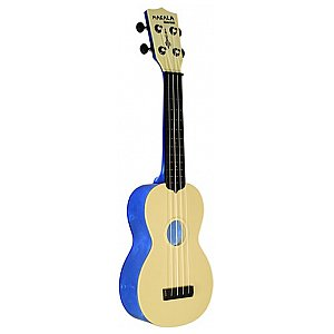 Kala KA MK SWT BL Makala Waterman Soprano,Translucent Blue side & back, Non Woven Bag, Ukulele Sopranowe 1/2