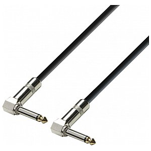 Adam Hall Cables 3 Star Series - Instrument Cable 6.3 mm kątowy Jack mono / 6.3 mm kątowy Jack mono 0.60 m kabel instrumentalny 1/2