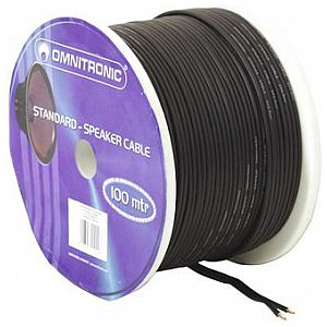 Omnitronic Speaker cable black 2x2.5 mm² /100m 1/2