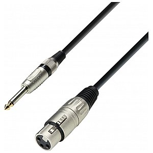 Adam Hall Cables 3 Star Series - Microphone Cable XLR female / 6.3 mm Jack mono 1 m przewód mikrofonowy 1/2