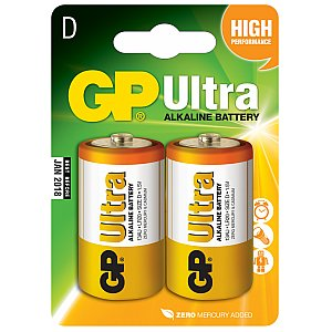 Bateria alkaliczna D (LR20) 1,5V 2 szt. GP Barreries Alkaline batteries, D, 1.5V, packed 2 /blister 1/2