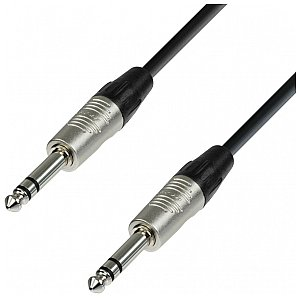 Adam Hall Cables 4 Star Series - Microphone Cable REAN 6.3 mm Jack stereo / 6.3 mm Jack stereo 0.3 m przewód mikrofonowy 1/2
