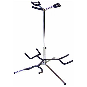 Dimavery Guitarstander for 3pcs chrome, statyw gitarowy 1/2