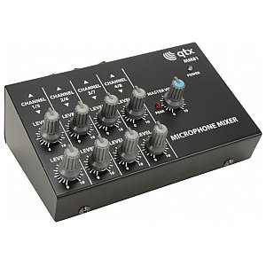 Mikser mikrofonowy QTX MM81, 8 Channel Mini Microphone Mixer 1/4