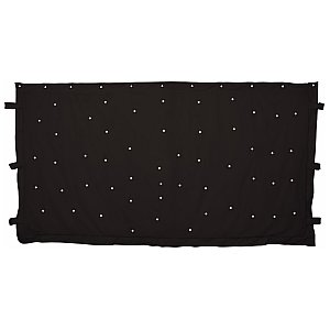 QTX 3 x 2m Black Star cloth with 96 White LEDs, kurtyna LED 1/4