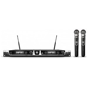LD Systems U506 HHD2 - Wireless Microphone System with 2 x Dynamic Handheld Microphone 1/6