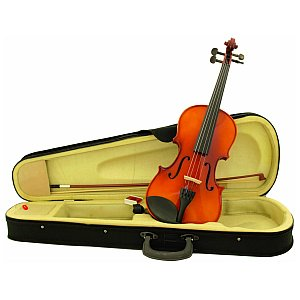 Dimavery Violin 4/4 with bow in case, skrzypce 1/4