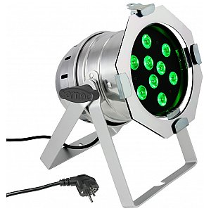 Cameo Light PAR 56 CAN - 9 x 3 W TRI Colour LED PAR Can RGB in polished housing, reflektor sceniczny LED 1/4