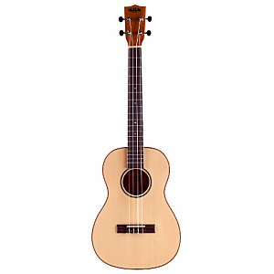 Kala KA KA FMBG Solid Spruce Top Baritone Ukulele, Flamed Spalted Maple with Baritone Case (UC-B), Ukulele Barytonowe 1/4