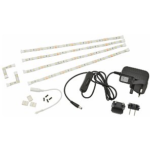 Fluxia LED Tape Decor Kit 4 x 300mm - warm white, taśma LED 1/1