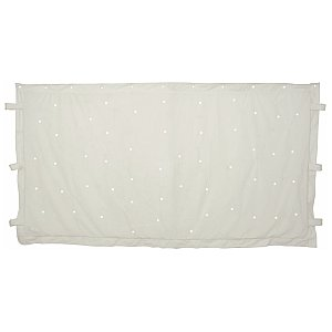 QTX 3 x 2m White star cloth with 96 White LEDs, kurtyna LED 1/3