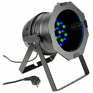 Cameo Light PAR 64 CAN - 36 x 3 W LED PAR Can RGB in black housing, reflektor sceniczny LED 1/3