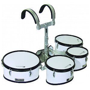 Dimavery MT-430 Marching Drum Set, white 1/1