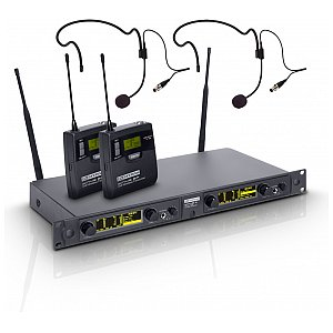 LD Systems WIN 42 BPH 2 B 5 - Wireless Microphone System with 2 x Belt Pack and 2 x Headset 1/4