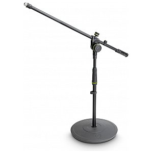 Gravity MS 2221 B - statyw mikrofonowy, Short Microphone Stand With Round Base And 2-Point Adjustment Boom 1/5