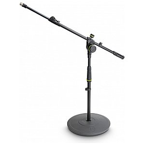 Gravity MS 2222 B - statyw mikrofonowy, Short Microphone Stand With Round Base And 2-Point Adjustment Telescoping Boom 1/6