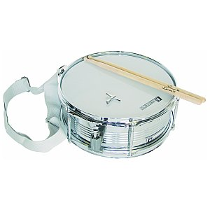 Dimavery MS-300 Marching-Snare, white, werbel 1/1