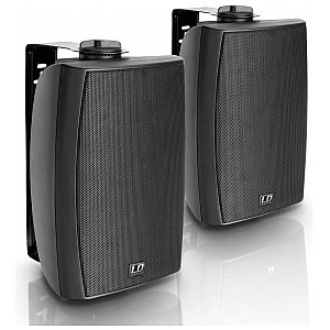 "LD Systems Contractor CWMS 52 B 100 V - 5.25"" 2-way wall mount speaker 100 V black (pair) 1/4"