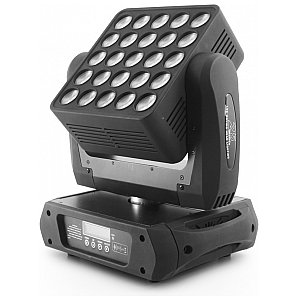 Flash LED MATRIX MOVING HEAD 25x12W 4w1 PAN/TILT NO LIMIT 1/4