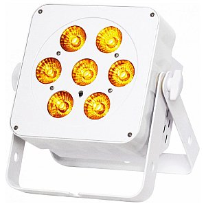 Reflektor PAR LED JB Systems LED PLANO 7FC-WHITE - Compact 7x10W RGBW projector, white 1/2