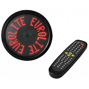 Eurolite Moving message advertising disc LED red 1/1