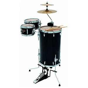 Dimavery Cocktail CDS Drum Set, black, zestaw perkusyjny 1/4
