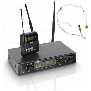 LD Systems WIN 42 BPHH - Wireless Microphone System with Belt Pack and Headset skin-coloured 1/4