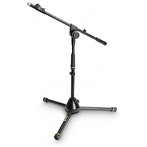 Gravity MS 4212 B - statyw mikrofonowy, Short Microphone Stand With Folding Tripod Base And 1-Point Adjustment Telescoping Boom 1/6