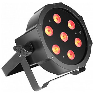 Cameo Light FLAT PAR CAN TRI 3W IR - 7 x 3 W TRI Colour in black housing, reflektor sceniczny LED 1/4