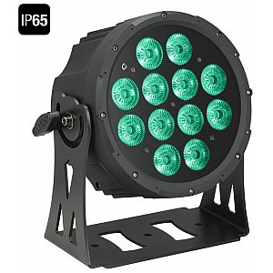 Cameo Light Outdoor FLAT PRO PAR CAN 12 IP65 - 12 x 10 W RGBWA in black housing, reflektor sceniczny LED 1/2