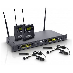 LD Systems WIN 42 BPW 2 - Wireless Microphone System with 2x Belt Pack and 2x Brass Instrument Microphone 1/4