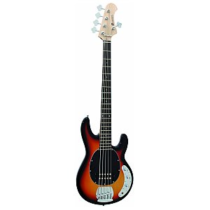 Dimavery MM-505 E-Bass, 5-string, sunburst, gitara basowa 1/4