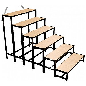 Bütec 500611003020 - Stair, Steel, 6-step, for platforms up to 140 cm, schody do podestu scenicznego 1/1
