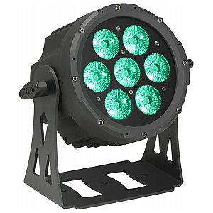 Cameo Light FLAT PRO PAR CAN 7 - 7 x 10 W RGBWA PAR light in black housing, reflektor sceniczny LED 1/5