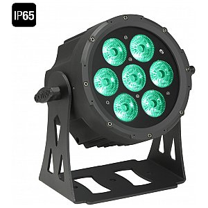 Cameo Light Outdoor FLAT PRO PAR CAN 7 IP65 - 7 x 10 W RGBWA in black housing, reflektor sceniczny LED 1/2
