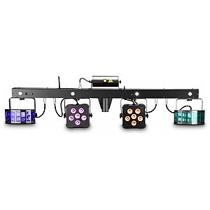 Cameo Light Multi FX Bar - All-In-One Solution with 5 Lighting Effects for Mobile DJs, Entertainers and Bands, zestaw oświetleniowy 1/5
