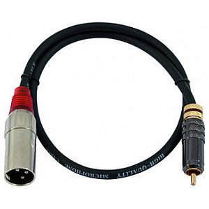 Omnitronic Cable AC-06R RCA to XLR (M),60cm, red 1/4