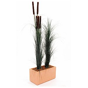 Europalms Reed grass with cattail, dark-green,152cm , Sztuczna trawa 1/3
