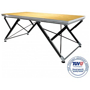 2m ERGOcom 4 - Stage Platform Indoor 2 x 1 m with Ratchet Height Adjustment, podest sceniczny 1/5