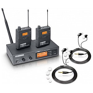 LD Systems MEI 1000 G2 - In-Ear Monitoring System wireless with 2 x belt pack and 2 x In-Ear Heapphones 1/5