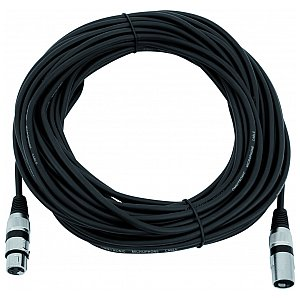 Omnitronic Cable MC-200, 20m,black,XLR m/f,symmetric 1/3