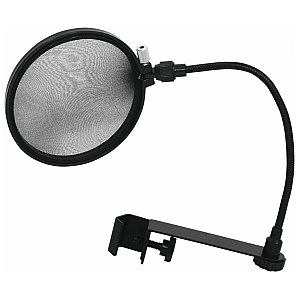 Omnitronic Microphone pop filter, black 1/2