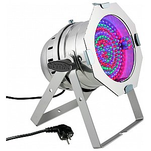 Cameo Light PAR 64 CAN - 183x10 mm LED PAR Can RGB in polished housing, reflektor sceniczny LED 1/4
